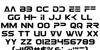 Eurofighter Font Letters Charmap