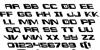 Interdiction Leftalic Font Letters Charmap