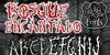Bosque Encantado Font handwriting poster