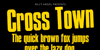 Cross Town Personal Use Font text book