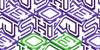 Hokjesgeestcube Font design pattern