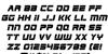 Edge Racer Italic Font Letters Charmap
