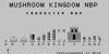 Mushroom Kingdom NBP Font design graphic