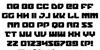 Legacy Cyborg Font Letters Charmap
