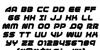 1st Enterprises Italic Font Letters Charmap