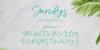 Jandys dua Font handwriting text