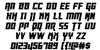 Danger Flight Italic Font Letters Charmap