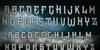 The Darkest Night Font poster text