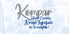Kompar Thin PERSONAL USE ONLY Font handwriting text