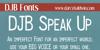 DJB Speak Up Font screenshot text