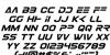 Eurofighter Italic Font Letters Charmap