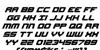 Gearhead Italic Font Letters Charmap
