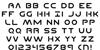 Planet N Font Letters Charmap