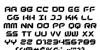 New York Escape Font Letters Charmap
