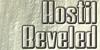 HostilBeveled Font plate dishware