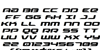 Drive Italic Font Letters Charmap