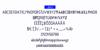 VIBRA Font screenshot abstract
