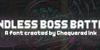 Endless Boss Battle Font screenshot poster