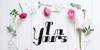 Nine tails inline Font flower rose