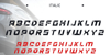 ACCELERARE Font screenshot
