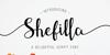 Shefilla Regular Font flower