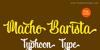 Macho Barista - Personal Use Font design text