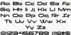 moonhouse Font Letters Charmap