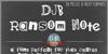 DJB Ransom Note Font text