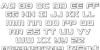 Starduster Outline Font Letters Charmap