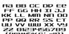 SDF Font Letters Charmap
