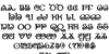 The Shire Bold Font Letters Charmap