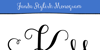 Janda Stylish Monogram Font design drawing