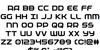 Federal Service Font Letters Charmap