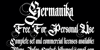 Germanika Personal Use Font design text