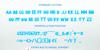 SNOW BLUE Font poster