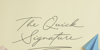 Quick Signature Personal Use Font handwriting