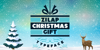 Zilap Christmas Gift Personal U Font poster design