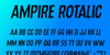 Ampire Font poster
