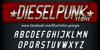DIESELPUNK Font screenshot text