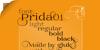 Prida01 Font text