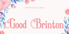 Good Brinton Font design text
