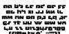 Boomstick Font Letters Charmap