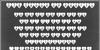 DJB Shape Up Hearts Font font screenshot