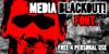 Media Blackout Font text poster