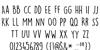 DKLemonYellowSun Font Letters Charmap