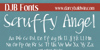 DJB Scruffy Angel Font text handwriting