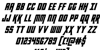 Kondor Italic Font Letters Charmap