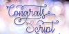 Congrats Script Font typography design