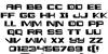 Interdiction Regular Font Letters Charmap