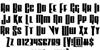 Vindicator Font Letters Charmap